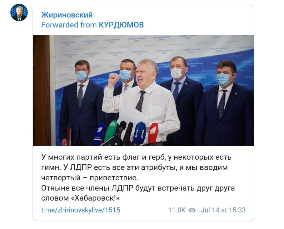 лидер партии ЛДПР В.Жириновский