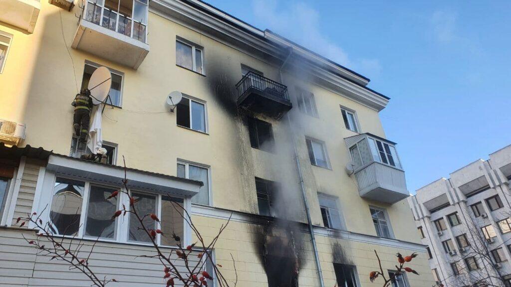 Последствия пожара в Студенческом переулке